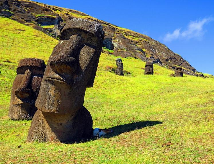 Rapa Nuí en la isla de Pascua